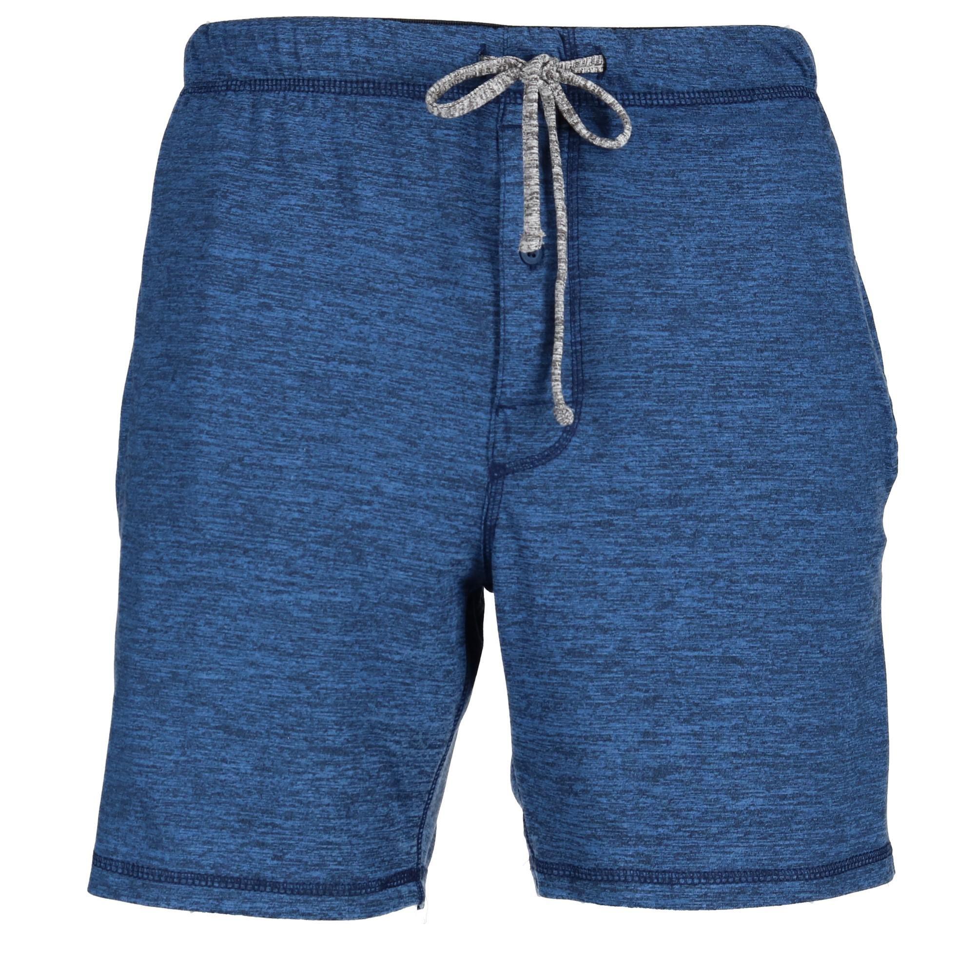 Hanes Men's Big and Tall Knit Sleep Shorts, 4X, Blue