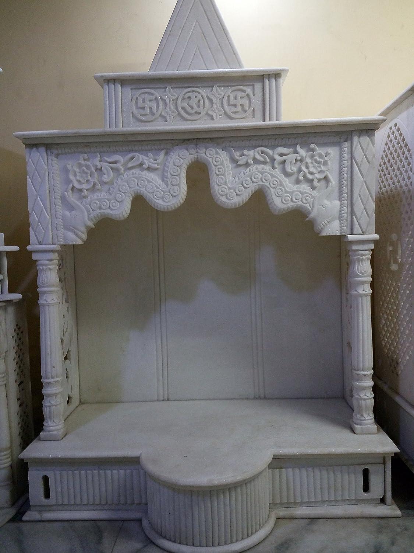 Buy eShilp White Marble Home Temple Pooja Mandir (15.2 cm x 9.5 cm ...