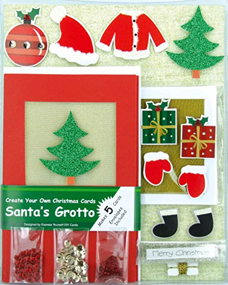 create your own christmas cards santas grotto box kit