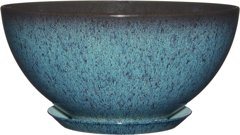 "Classic Home and Garden 9010D-375R 10"" Rosie Bowl Planter, Indigo Speckle"