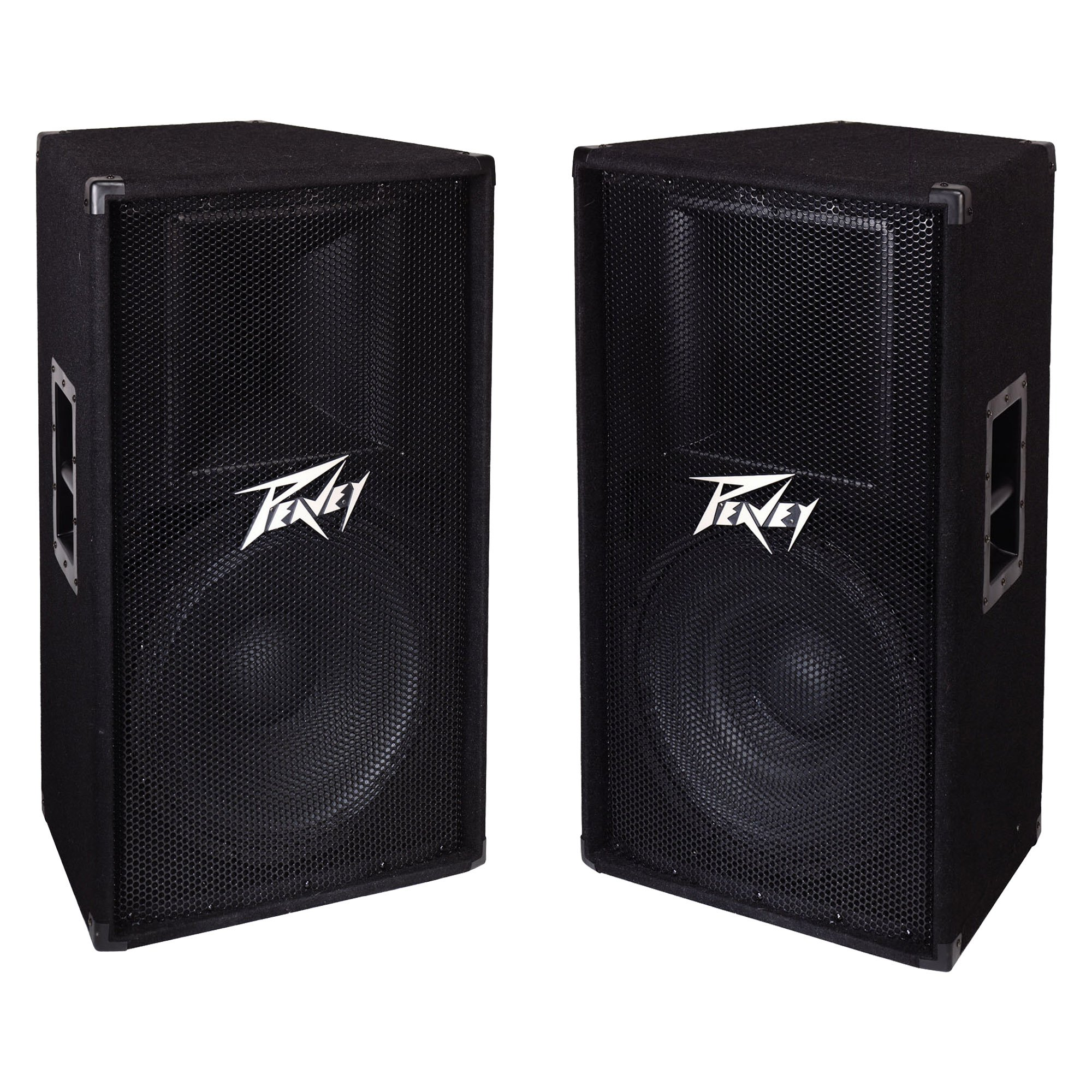 Peavey PV 115 2-Way 15'' 800W Active Pro DJ Live Sound Speaker System (2 Pack)