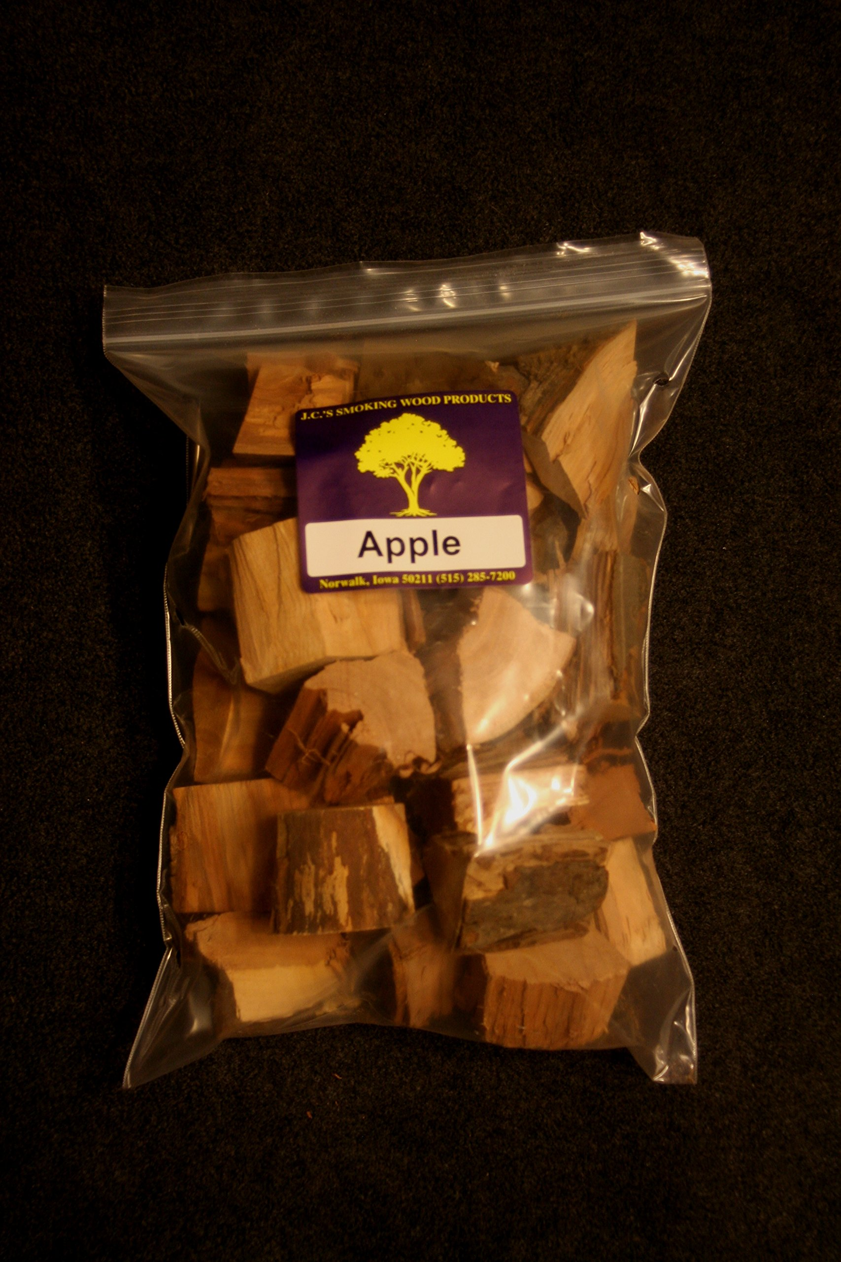 J.C.'s Smoking Wood Chunks - 4 PK Gallon Sized bag of Apple, Maple, Mulberry, Wild Black Cherry by J.C.'s Smoking Wood Products