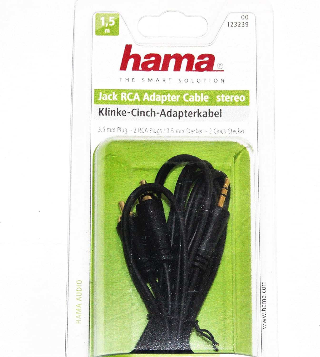 Hama Audio Adapter Audio Connection Cable 3 5 Mm Stereo Elektronik