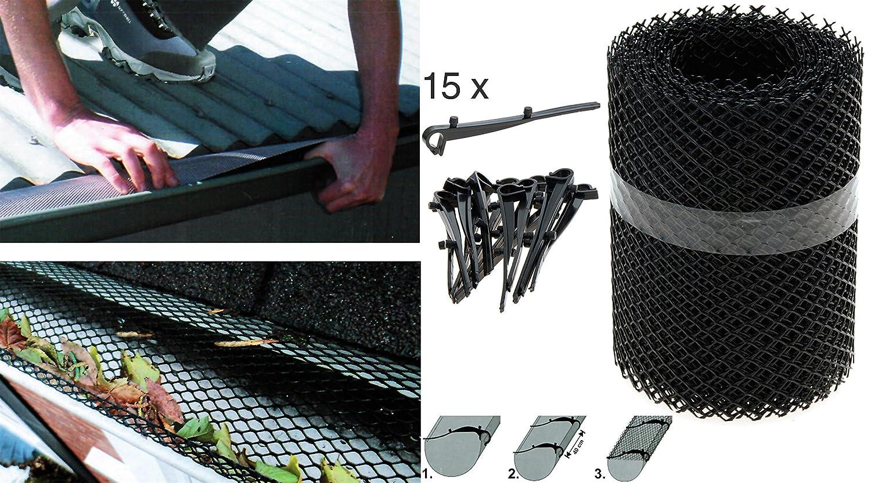Dachrinnenschutz 6 Meter - Dachrinnengitter Laubschutz Rinnenschutz matrasa