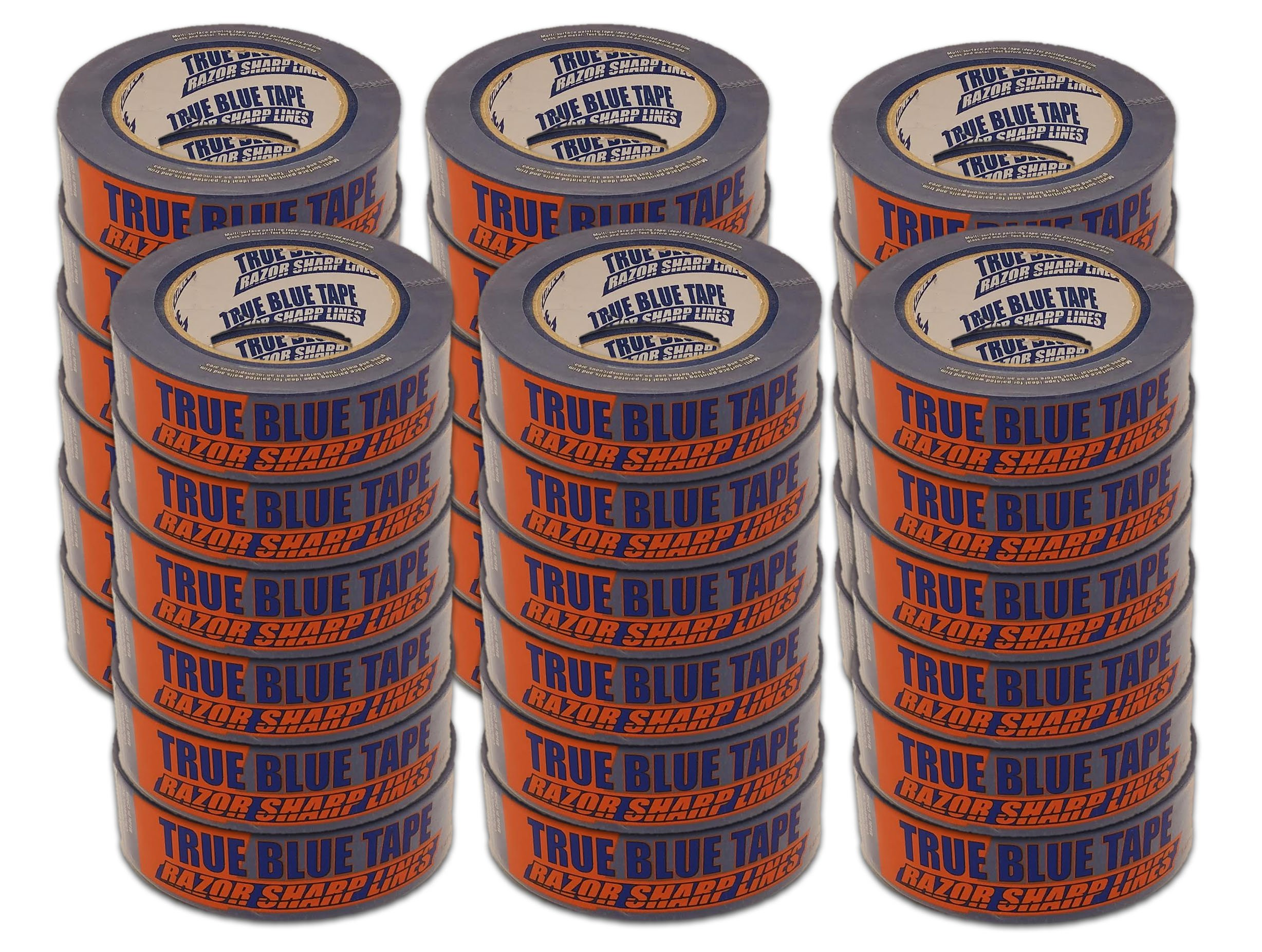 36 Roll Case of 1.5 Inch Blue Painters Tape Only $3.32 Per Roll! Bulk Buy!