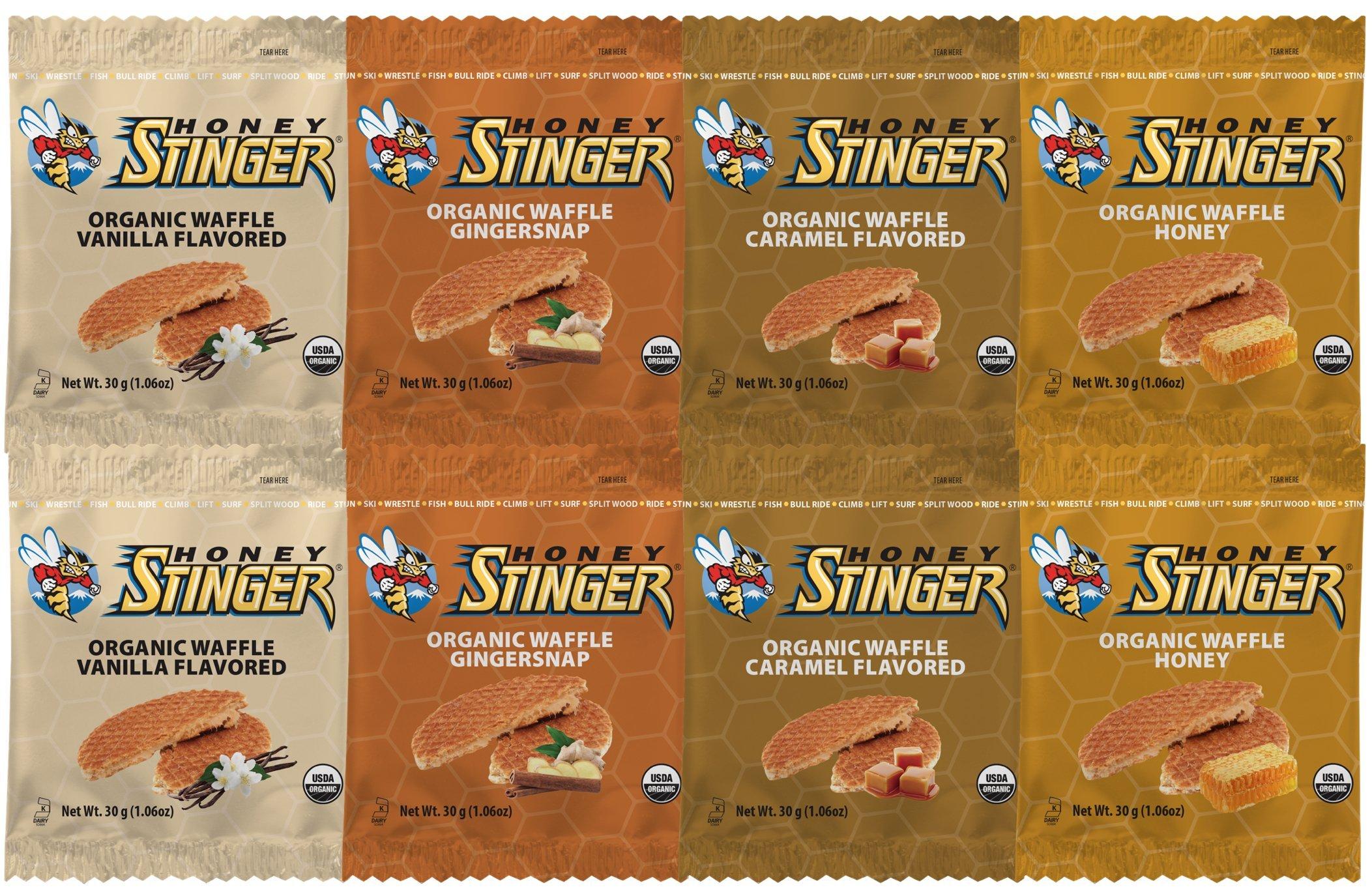 Honey Stinger Waffle 4 Flavor Variety Pack (Pack of 8) by Honey Stinger