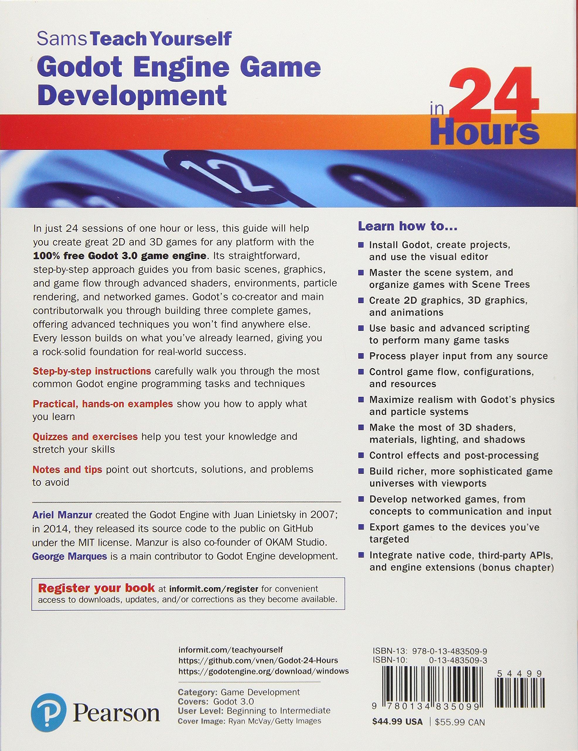 Godot Engine Game Development in 24 Hours, Sams Teach