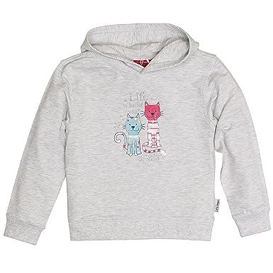 c747c751a9c19f SALT AND PEPPER Mädchen Sweatshirt Sweat Lucky Me Kapuze, Grau (Light Grey  201)