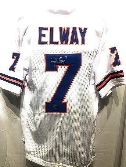 John Elway Denver Broncos Signed Autograph Custom White Jersey Elway ...