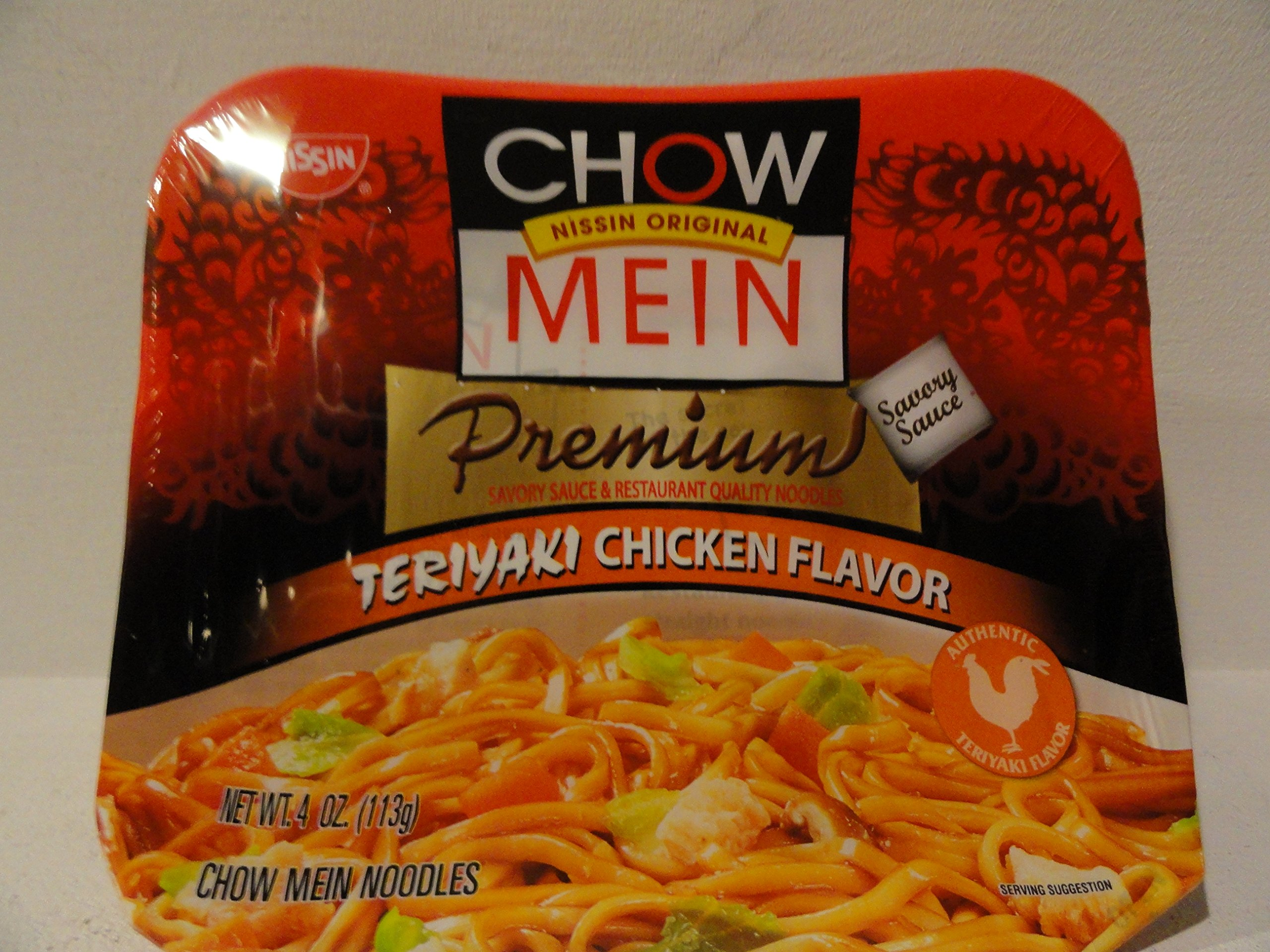 Chow Mein Instant Noodle (Teriyaki Chicken Flavor) - 4oz [Pack of 3]
