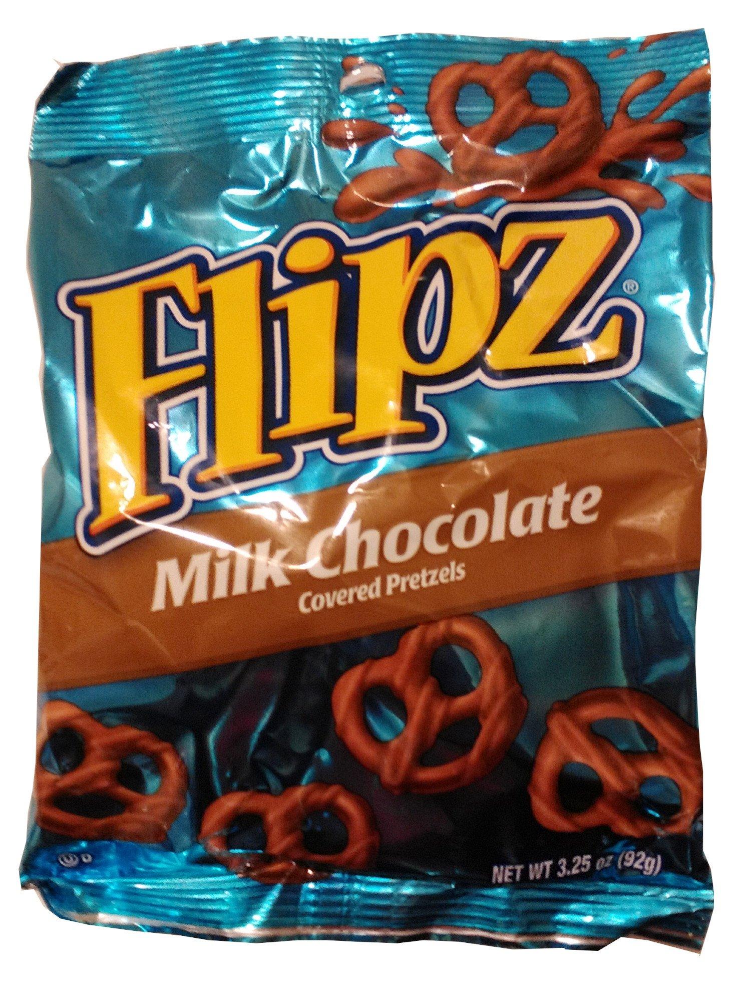 Flipz Milk Chocolate Pretzels, 3.25 oz bags by FLIPZ