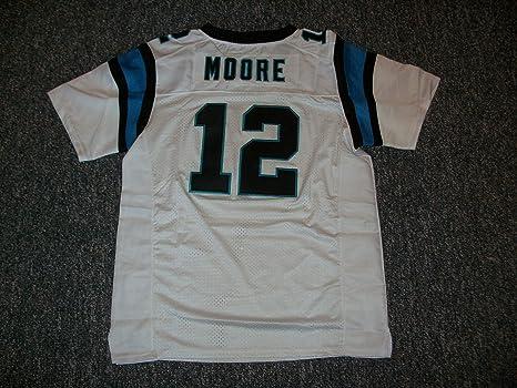 best service c9cb7 fec21 Amazon.com : D.J. Moore Unsigned Custom Sewn Carolina White ...