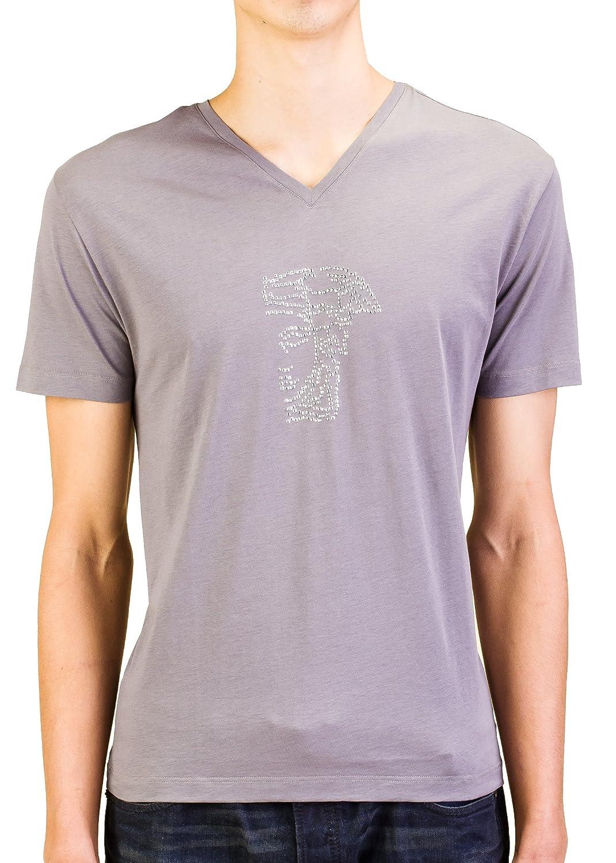 6ed00df2 Amazon.com: Versace Collection Men Studded Medusa Head V-Neck T-Shirt Grey:  Clothing