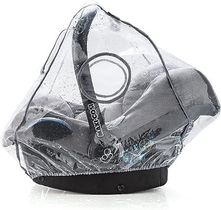 COMPATIBLE: el plástico de lluvia es un práctico accesorio acoplable a muchas sillas de coche grupo