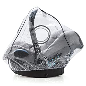 Universal Infant Car Seat Raincover (e.g. Maxi Cosi / Cybex / Cosatto / Obaby / Britax) | Optimum Air Circulation, Closable Window for Easy Contact with your Baby, PVC-free