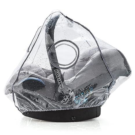 Zamboo Protector de lluvia Grupo 0+ (se adapta a Maxi-Cosi / Cybex / Römer) - Burbuja de lluvia con ventana frontal, buena circulación del aire, ...