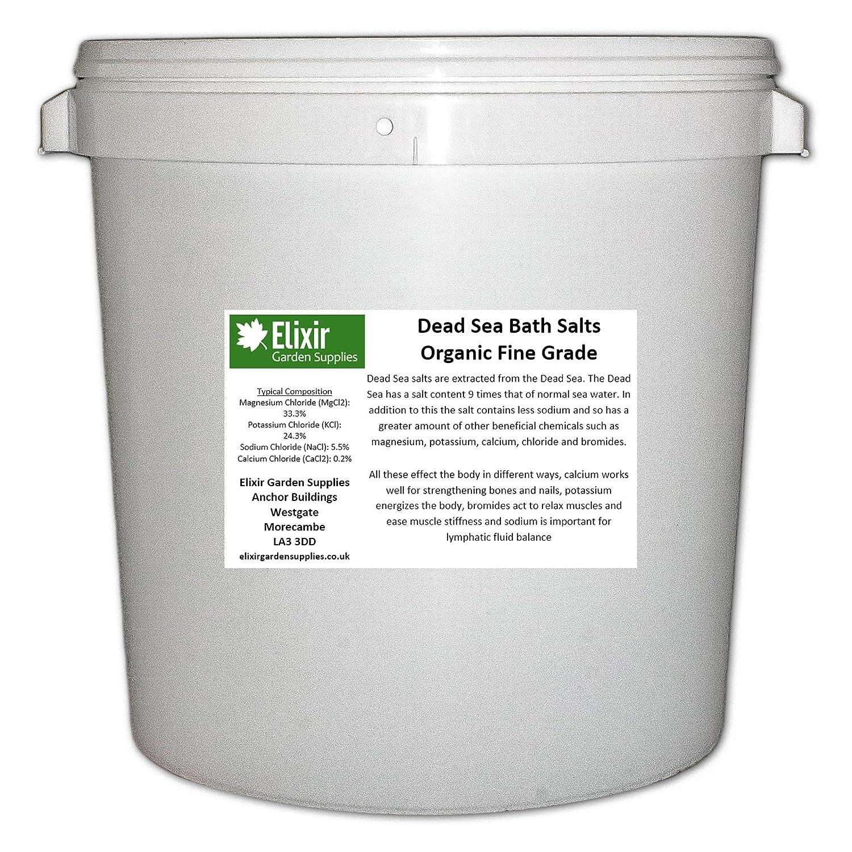 Elixir Gardens DEAD SEA BATH SALTS | FINE | 5KG TUB | 100% Natural Organic Added Minerals