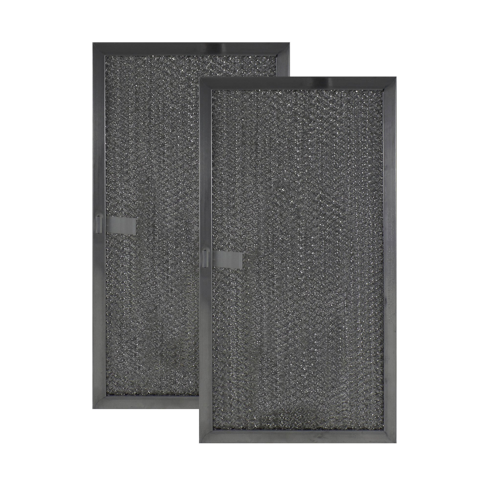 2 PACK Air Filter Factory Compatible Replacement For Whirlpool 8206229 8206229A Microwave Oven Aluminum Grease Filter