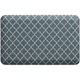 """NewLife by GelPro Anti-Fatigue Designer Comfort Kitchen Floor Mat, 20x32"""", Lattice Mineral Grey Stain Resistant Surface with 3/4"""" Thick Ergo-foam Core for Health and Wellness"""