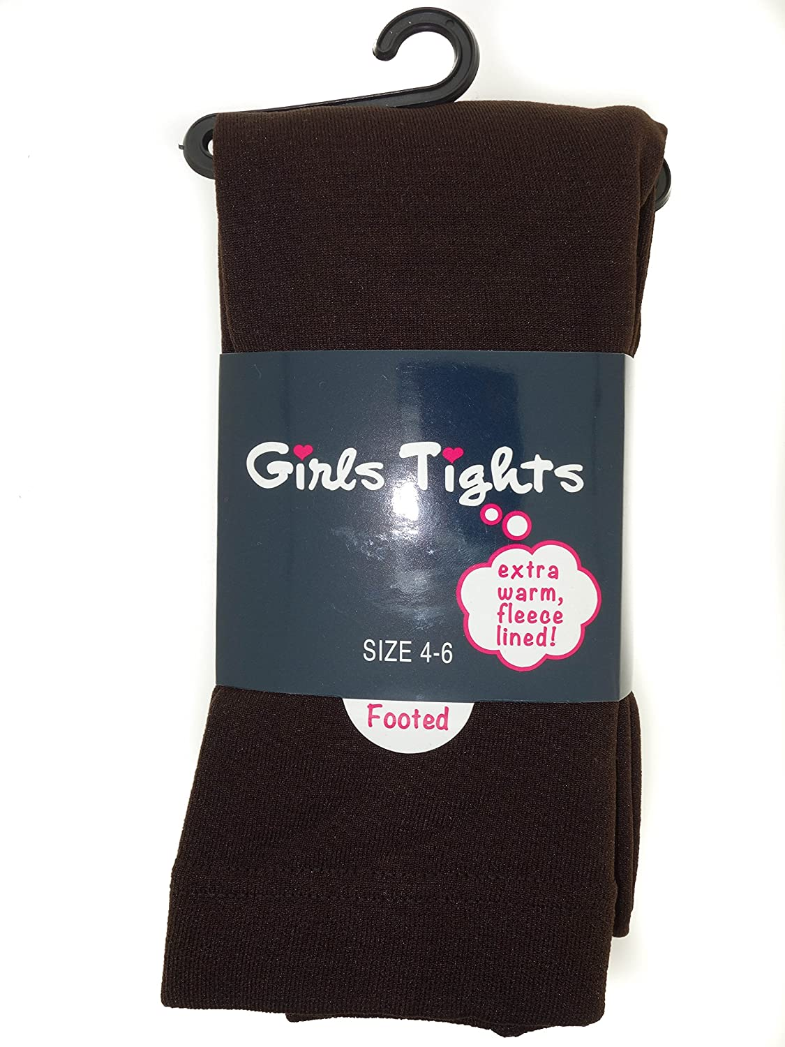 Amazon.com: Leg Impressions Fleece Lined Footed Extra Warm Tights ...