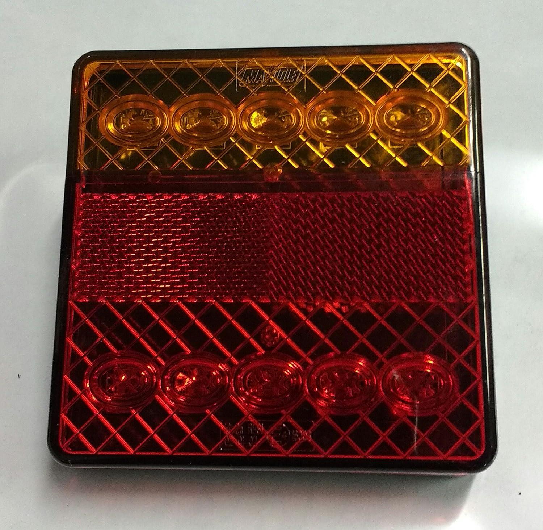 PAIR Of 12V MAYPOLE LED REAR COMBINATION MULTI FUNCTION LIGHTS / LAMPS STOP TAIL INDICATOR TRAILER MP862b Maypole Ltd
