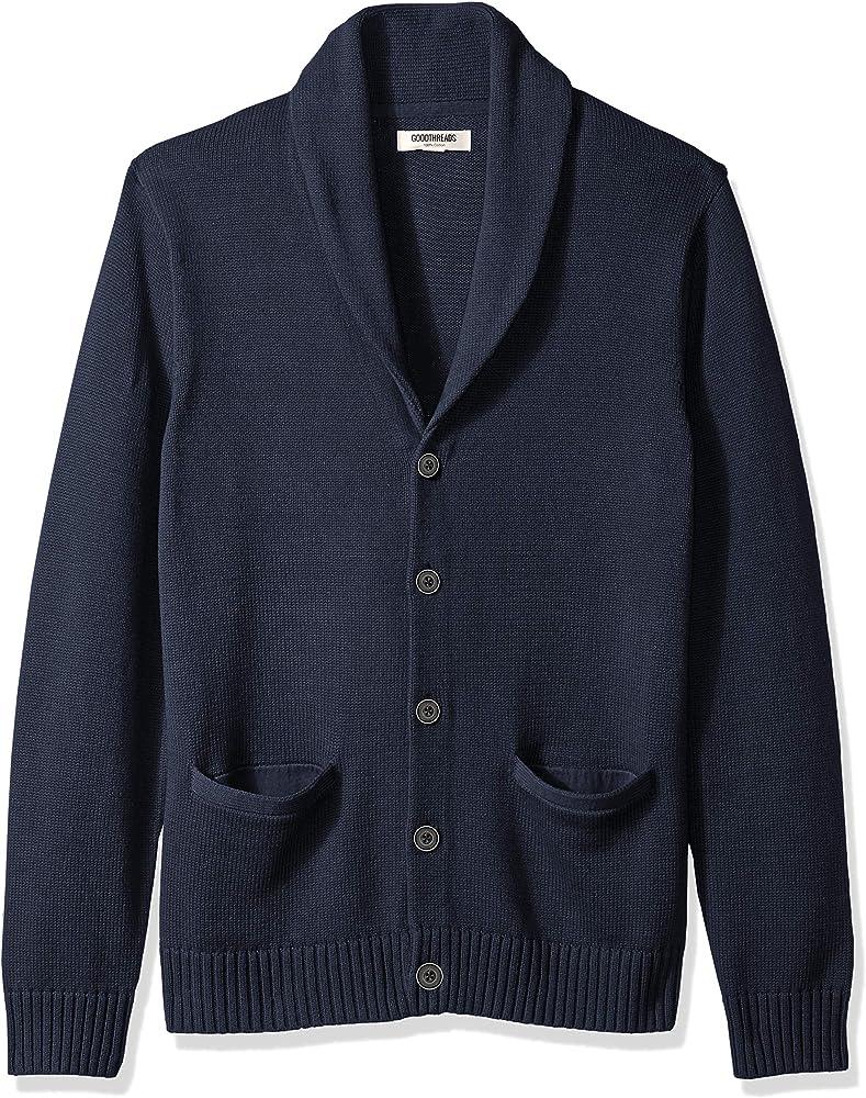 Marca Amazon – Goodthreads – Cárdigan de algodón suave para hombre, Azul (solid navy Nav), US S (EU S): Amazon.es: Ropa y accesorios