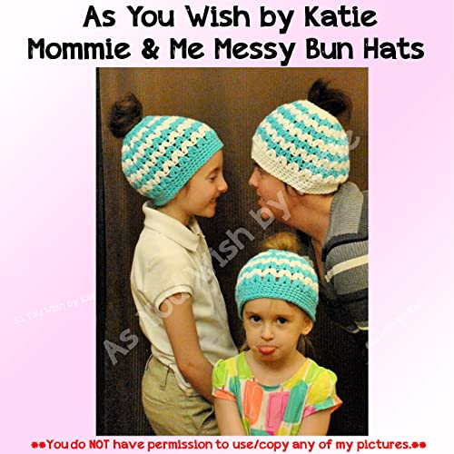 65feb5be113 Image Unavailable. Image not available for. Color  Messy Bun Hats - Mommy    Me ...