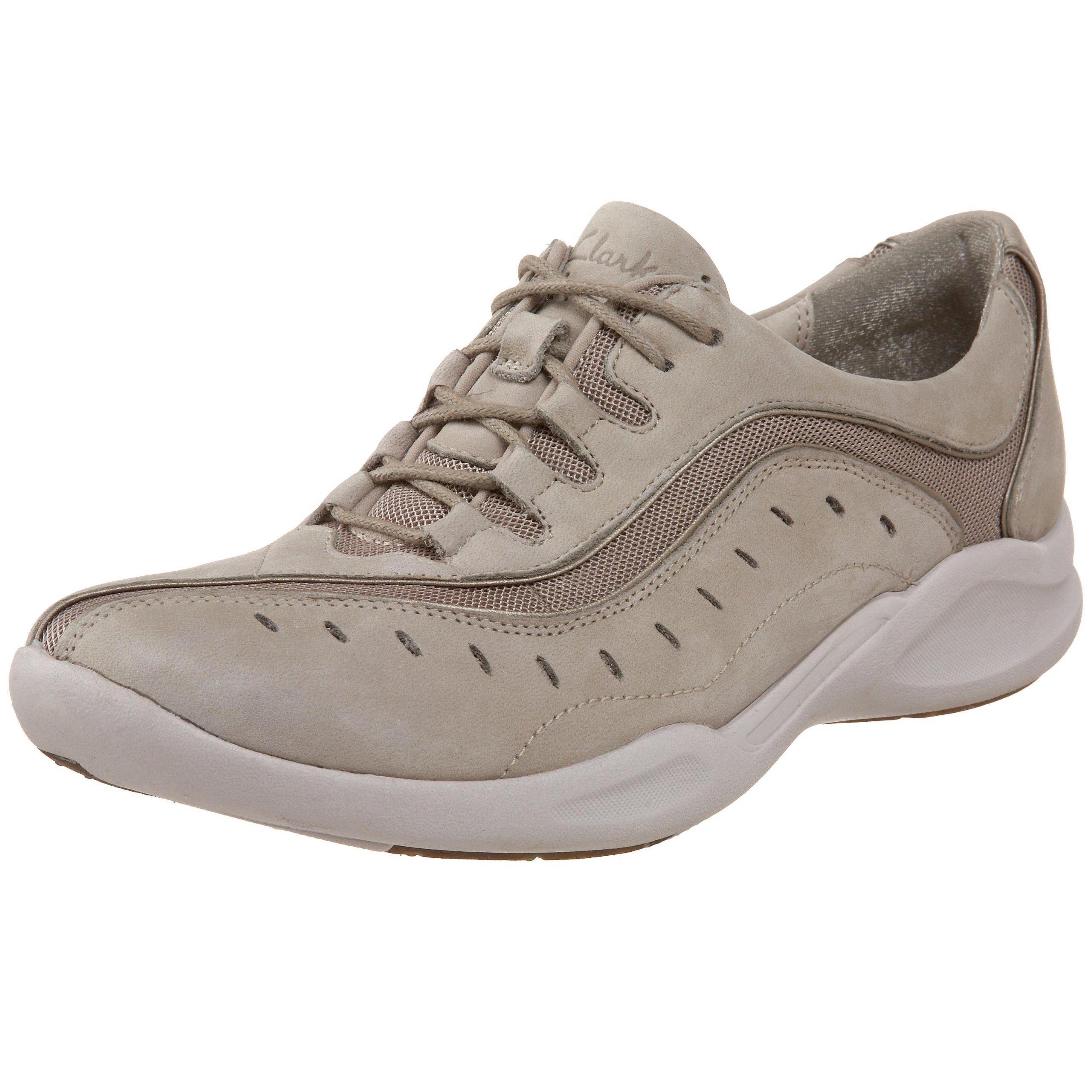 Clarks Women's Wave.Wheel Sneaker,Stone,10 M US