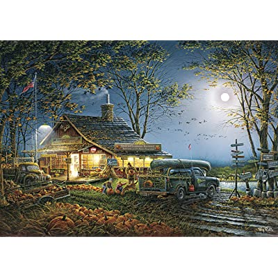 Buffalo Games - Terry Redlin - Autumn Traditions - 300 Large Piece Jigsaw Puzzle: Toys & Games