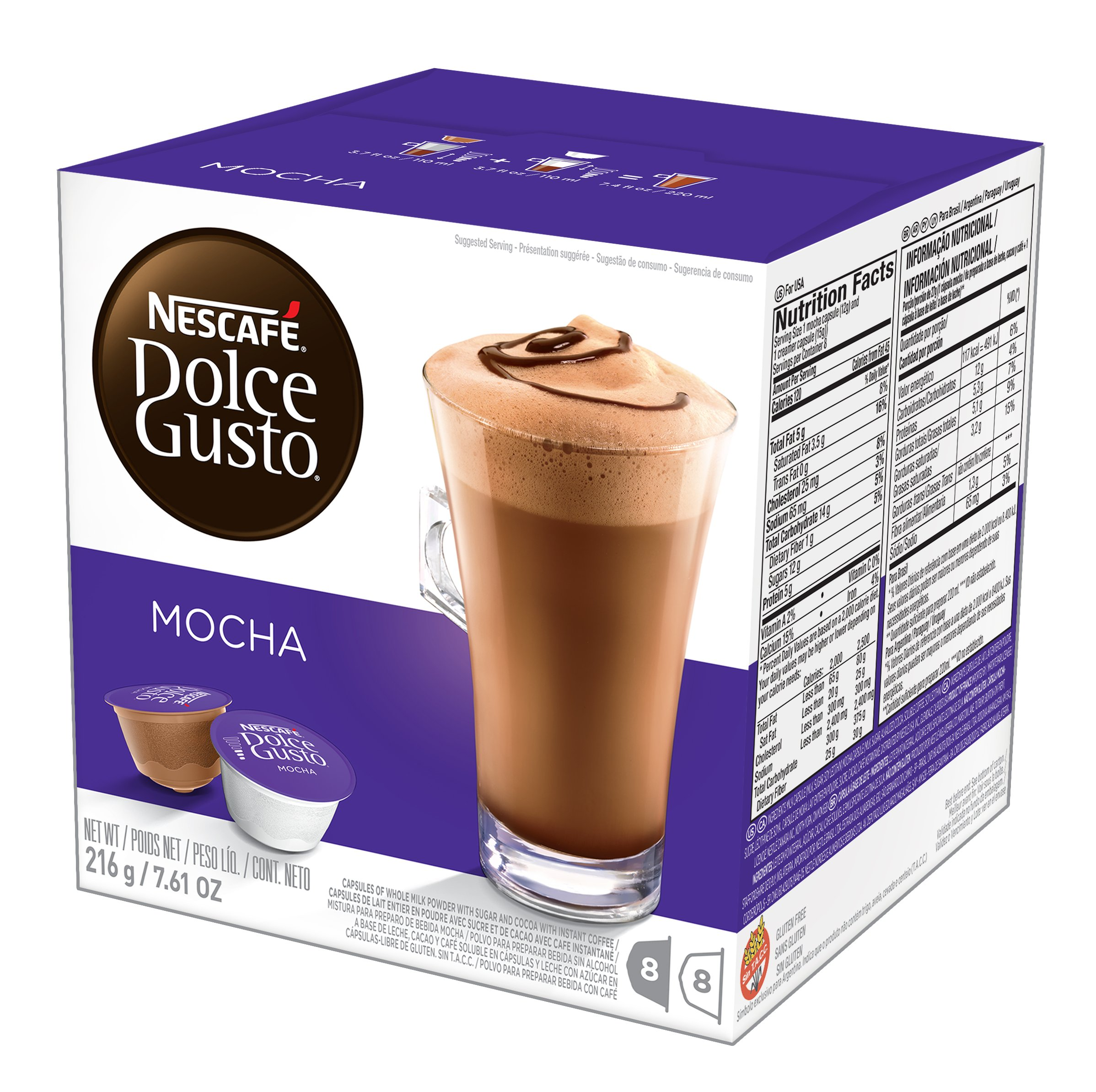 NESCAFÉ Dolce Gusto Coffee Capsules Mocha 48 Single Serve Pods, (Makes 24 Specialty Cups