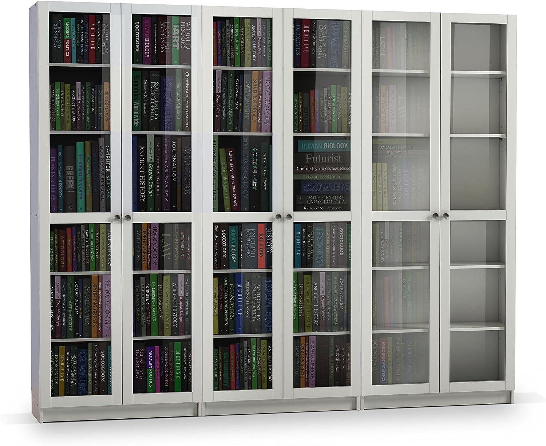 Steens Anette Bucherwand Mit 6 Glasturen 240 X 200 X 27 Cm B H