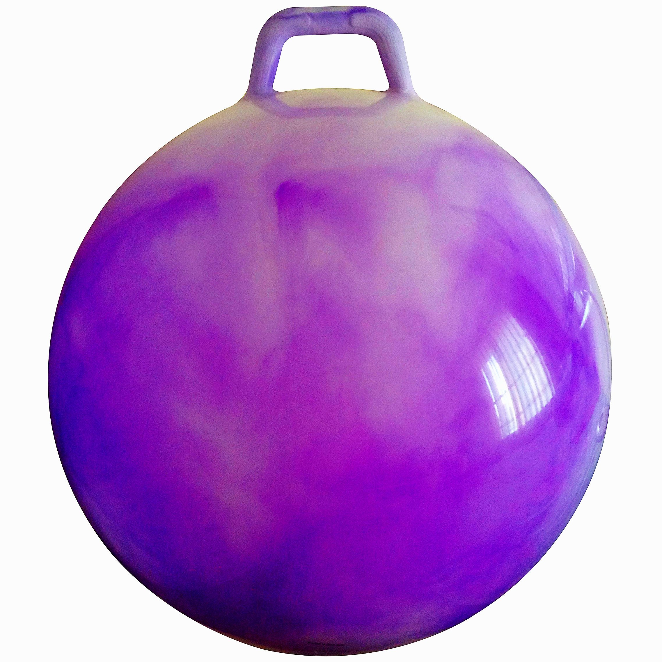 AppleRound Space Hopper Ball with Air Pump: 28in/70cm Diameter for Age 13+, Hop Ball, Kangaroo Bouncer, Hoppity Hop, Jumping Ball, Sit & Bounce by AppleRound