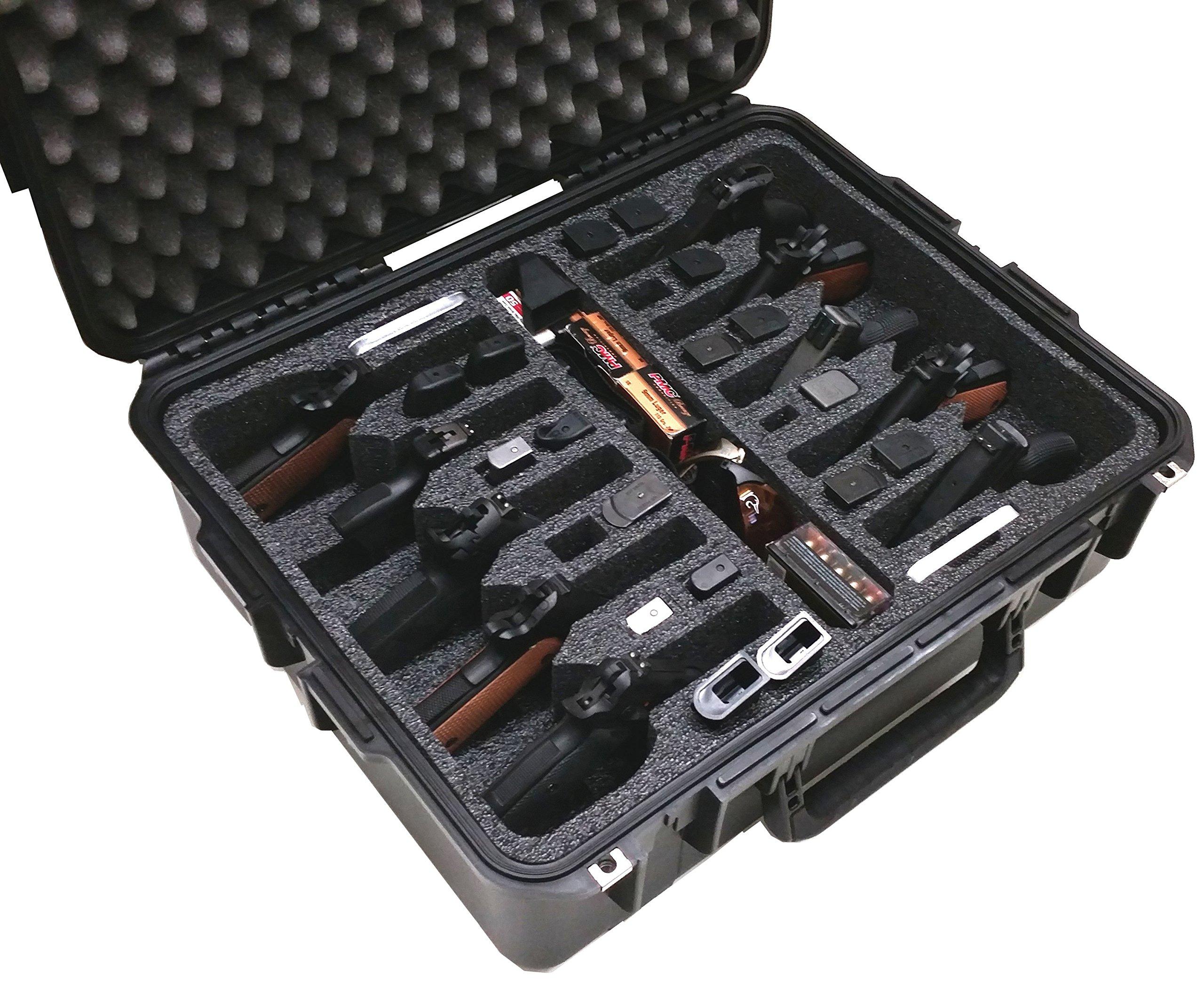 Case Club Waterproof 10 Pistol Case with Silica Gel to Help Prevent Gun Rust