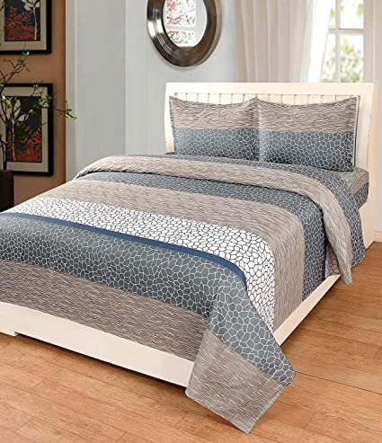 Astra Double Bedsheets Cotton With Pillow Cover