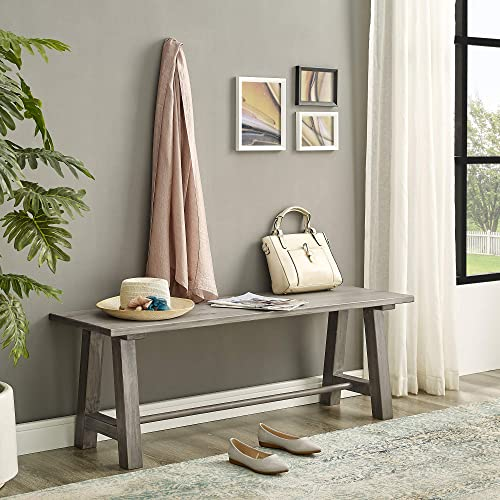 Classic Brands Rustic Farmhouse Large Bench-Antique White