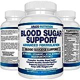 Blood Sugar Support Supplement – 20 HERBS & Multivitamin for Blood Sugar Control with Alpha Lipoic Acid & Cinnamon – 120 Pills – Arazo Nutrition