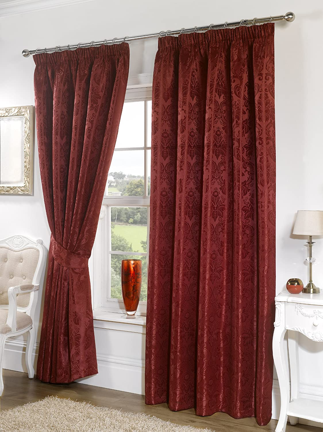 eastbourne curtains cushions curtain fusion burgundy eyelet new and
