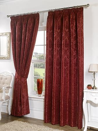 Seattle Burgundy Curtains 66
