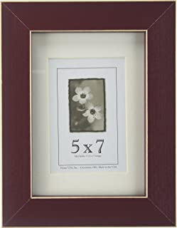 product image for Frame USA Clean Cut Series 5x7 Wood Picture Frames (Red) | Choose Size and Color