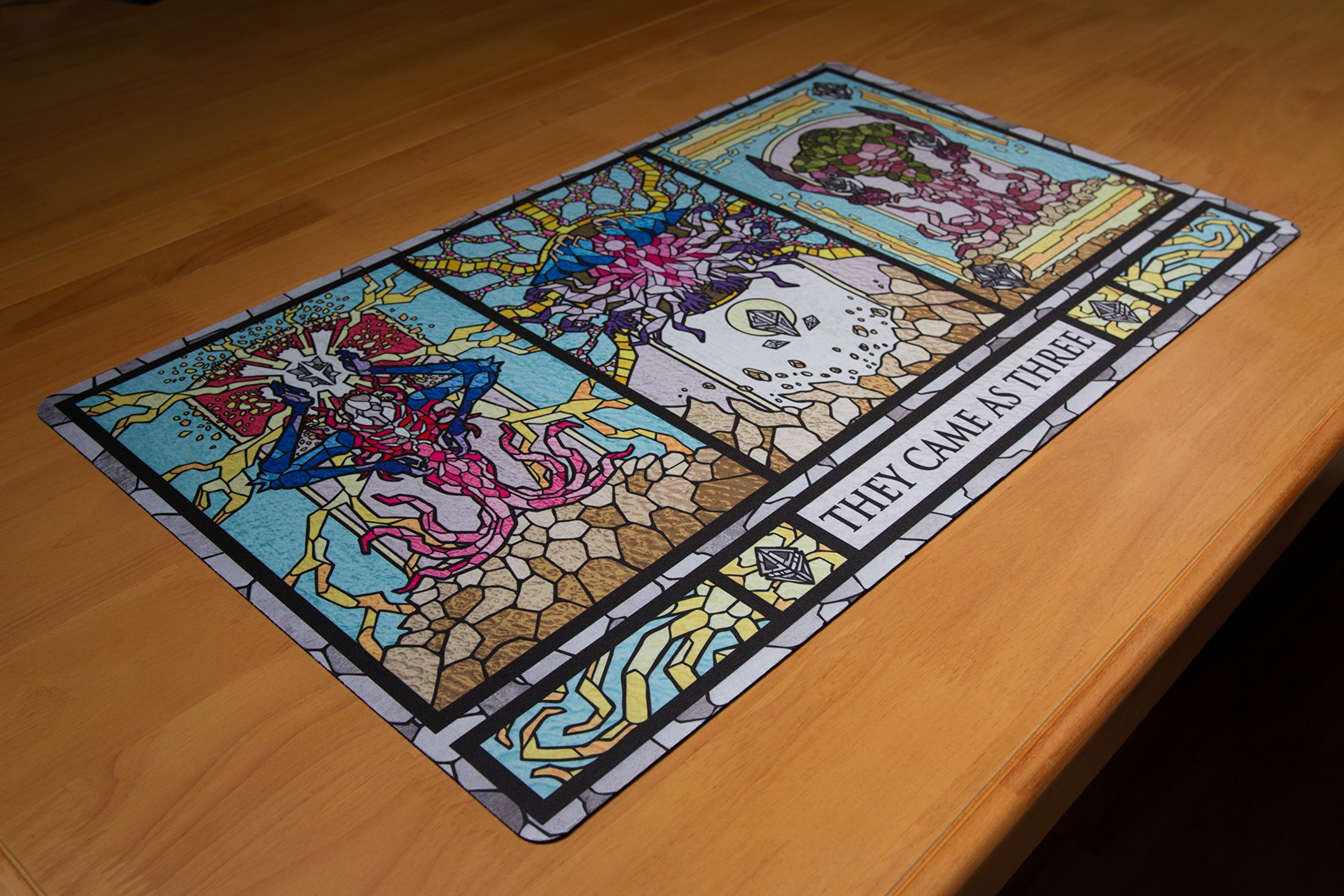 Inked Playmats Stained Glass Titans Card Playmat - Inked Gaming Perfect for Card Gaming TCG Game Mat by Inked Playmats (Image #6)