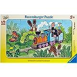 Ravensburger 06349 La talpa capotreno- Puzzle incorniciato da 15 pezzi