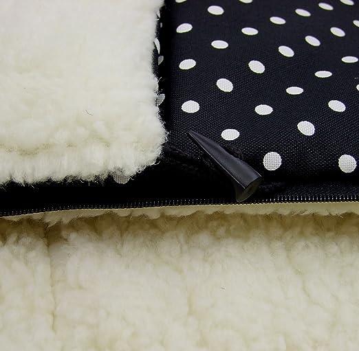 Los beb/és-Dreams saco de abrigo de invierno colour negro con peque/ños juguetes o con colour blanco dise/ño de lunares 108 cm para carrito o silla de lana de cordero lana de cordero de Tarantino con George Clooney juguete de bola de niev