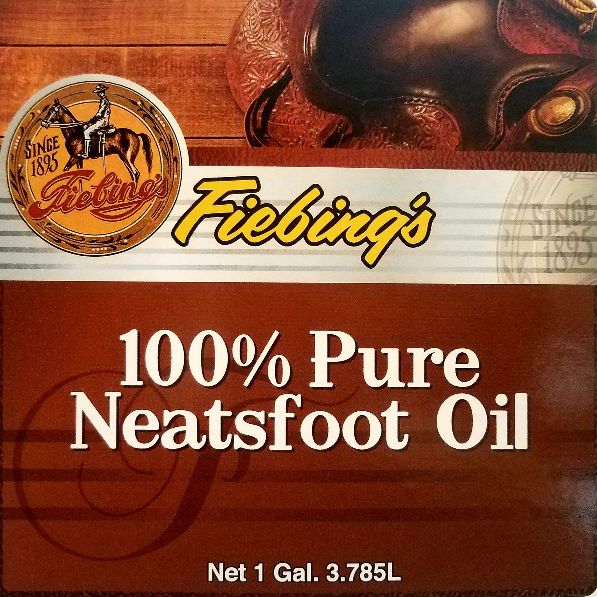 Fiebings - 100% Pure Neatsfoot Oil , Natural Preservative , Various Sizes, 1 Gallon  by Fiebing's