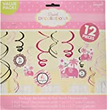 Amscan Sweet Safari Girl Swirl Value Pack Baby Shower Party Decorations (12 Piece), Pink