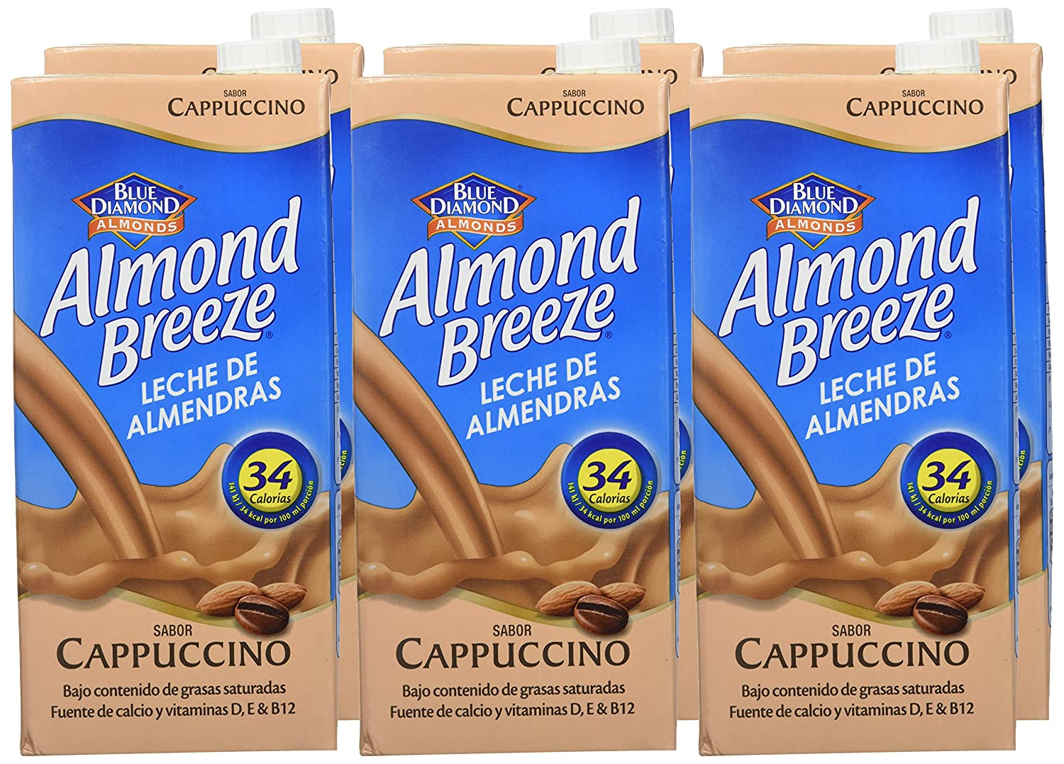 Almond Breeze Bebida de Almendra Cappuccino - Paquete de 6 x 1000 ml - Total: 6000 ml: Amazon.es: Amazon Pantry