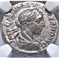 IT 222-235 AD Ancient Rome Imperial Roman Emperor Severus Alexander Antique Silver Coin AR Denarius Extremely Fine NGC