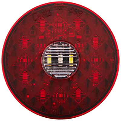 """Grote 55162 4"""" Round LED Stop Tail Turn Light with Integrated Backup (Integrated 4-Pin Hard Shell Termination): Automotive"""