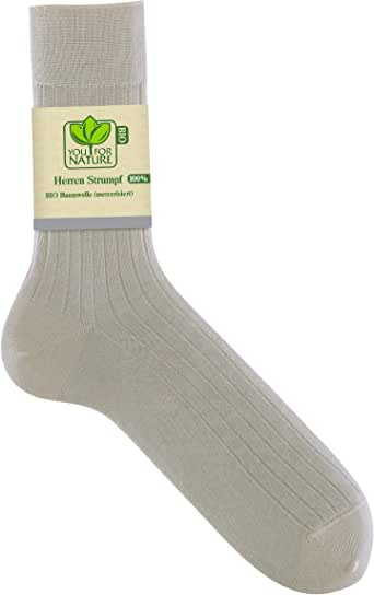 YOU FOR NATURE – Hombre Calcetines/Medias 100% algodón bio ...