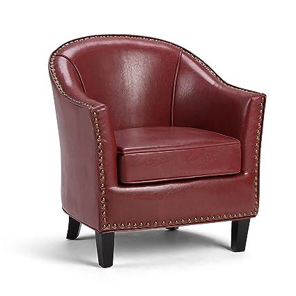 Simpli Home AXCTUB 004 RRD Kildare Tub Chair, Radicchio Red