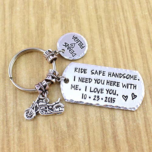amazon com personalized ride safe handsome couples motorcycle